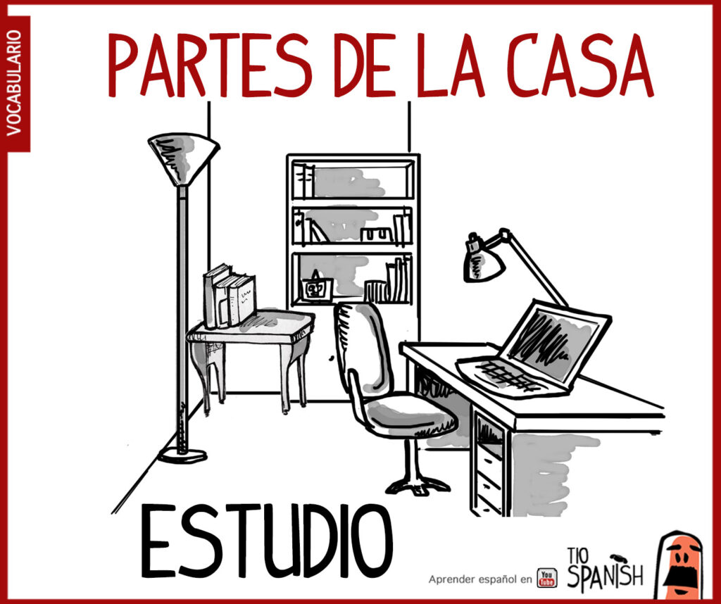 estudio, las partes de la casa en español, parts house spanish vocabulary